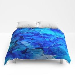 Blue Petunias Comforters
