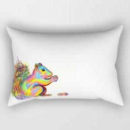 psychedelic squirrel Rectangular Pillow