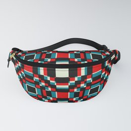 Red and Blue Retro Flowers Shenlong Fanny Pack