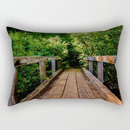 The Forest Bridge Rectangular Pillow