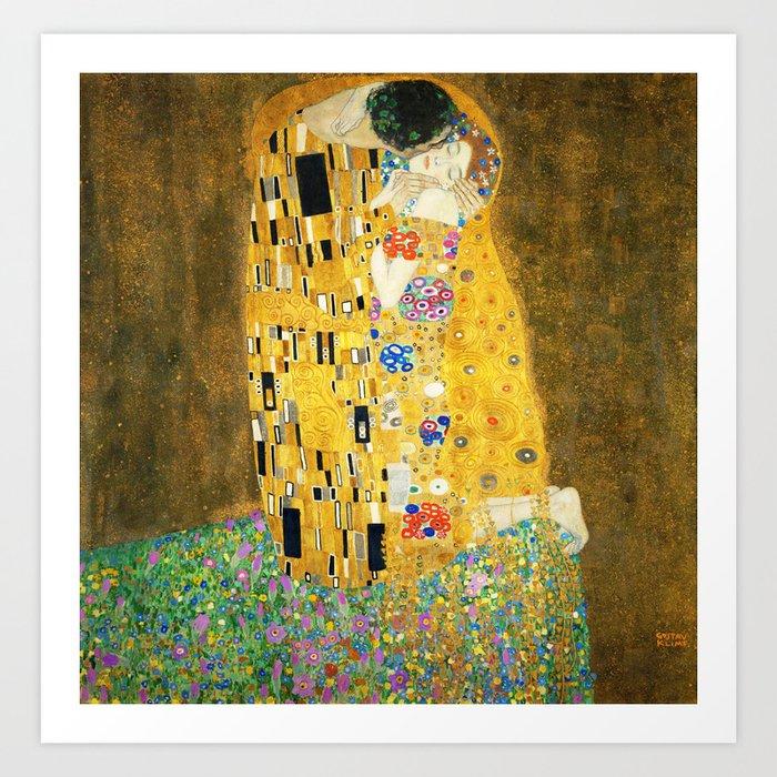 Gustav Klimt The Kiss Art Print