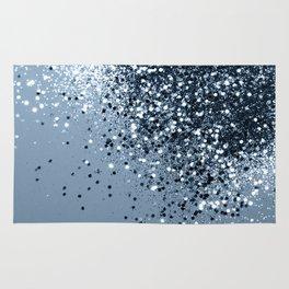 Sparkling Blue Lady Glitter #1 #shiny #decor #art #society6 Rug