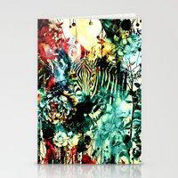 zebra Stationery Cards featuring ZEBRA by RIZA PEKER