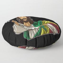 Rasta Jesus Smokes Weed - Cannabis Lord - Stoner Floor Pillow