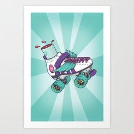 Roller Derby Motherf***er Art Print