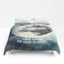 Take care of our planet #2 Comforters