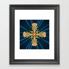 Jewelry cross Framed Art Print
