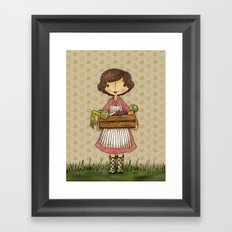 Anna the Farmer Framed Art Print