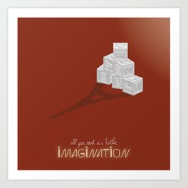 Never Forget to Play - Blocks Art Print