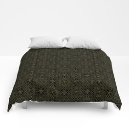 Diamond gold pattern Comforters