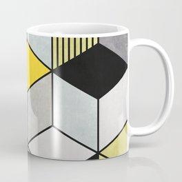 Colorful Concrete Cubes 2 - Yellow, Blue, Grey Coffee Mug