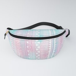 Hand Drawn African Patterns - Pastel Pink & Turquoise Fanny Pack