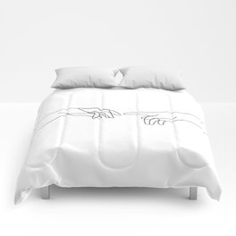 Creation of Adam Minimal Drawing Comforters