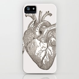 Love you with all my heart vintage illustration iPhone Case