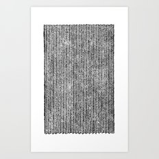 Stockinette Black Art Print