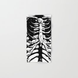 Skeleton Ribs | Black and White Hand & Bath Towel