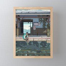 High Tide Tracks Framed Mini Art Print
