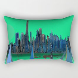 May arriving in New York - shoes stories Rectangular Pillow