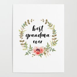 Best Grandma Ever Poster