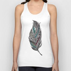 Single Aztec Feather  Unisex Tank Top
