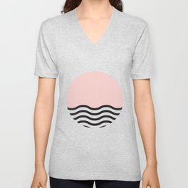 Waves of Pink Unisex V-Neck