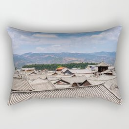 Chinese traditional tiled roofs Rectangular Pillow