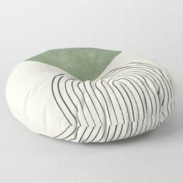 Arch balance green Floor Pillow