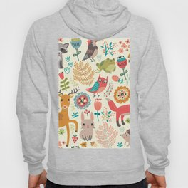 Woodland Animal Pattern Hoody