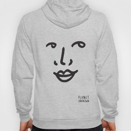 Facial expression 01 white Hoody