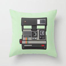#43 Polaroid Camera Throw Pillow