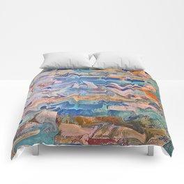 Blue Patchwork Comforters