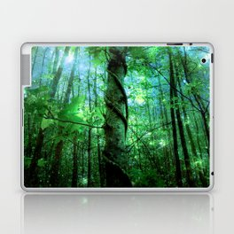 Forest Of The Fairies Green Blue Laptop & iPad Skin