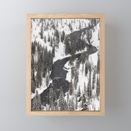 Yellowstone National Park - Lewis River Framed Mini Art Print