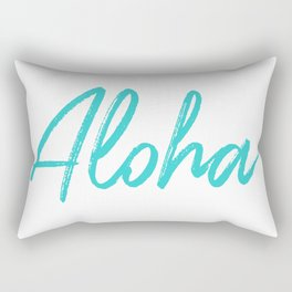 Aloha in Tropical Blue Rectangular Pillow