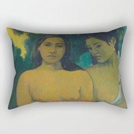 Paul Gauguin - Two Tahitian Women (1899) Rectangular Pillow