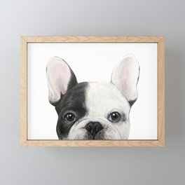 French Bulldog Dog illustration original painting print Framed Mini Art Print