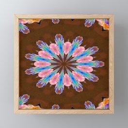 Healing Crystals Mandala Framed Mini Art Print