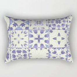 Flower Bell Azulejos Rectangular Pillow
