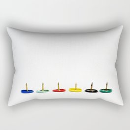 lace colorful tacks - is that creative? Rectangular Pillow