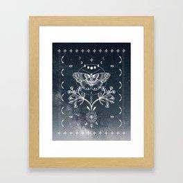 Magical Moth White Framed Art Print