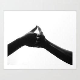 thumb war Art Print