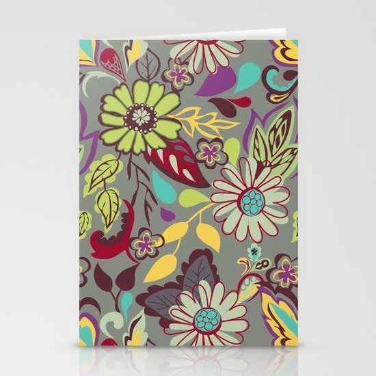 Large Bright Blooms Stationery Cards