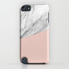 Marble and pale dogwood color iPod touch Slim Case