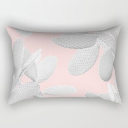 White Blush Cacti Vibes #2 #plant #decor #art #society6 Rectangular Pillow