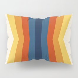Bright 70's Retro Stripes Reflection Pillow Sham