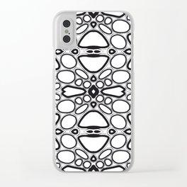 fancy grid Clear iPhone Case