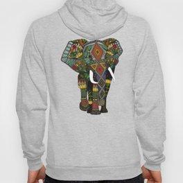 floral elephant teal Hoody