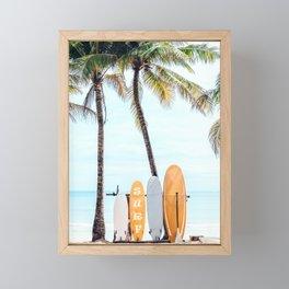 Choose Your Surfboard Framed Mini Art Print