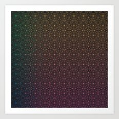 Space Desert Grid Art Print