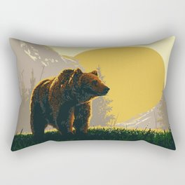 Early Morning Grizzly Bear Rectangular Pillow